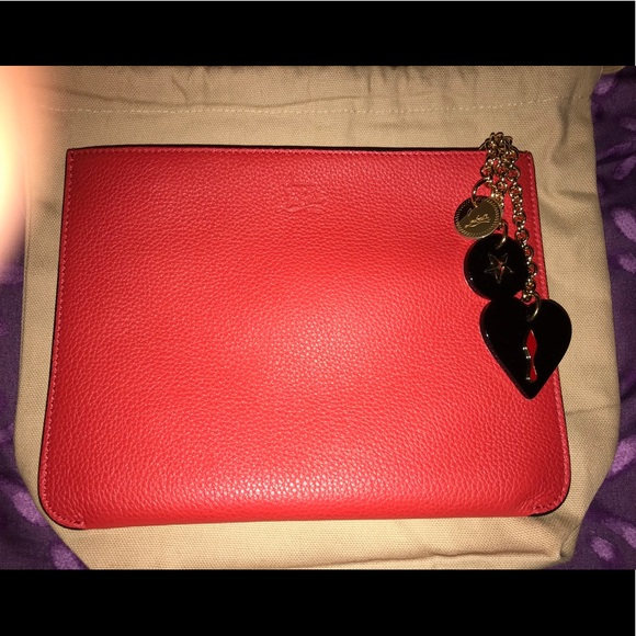 71e4362eb129c Christian Louboutin pouch bag red new with tags